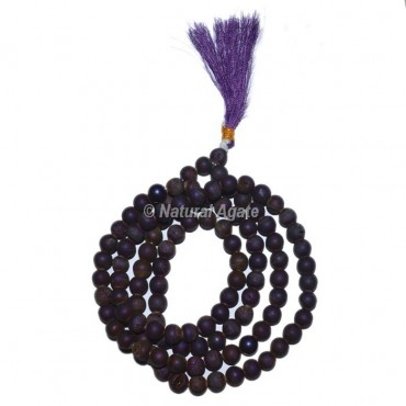 Light Purple Agate Jap Mala