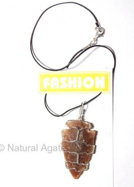 Agate Arrowheads Wrap Necklace