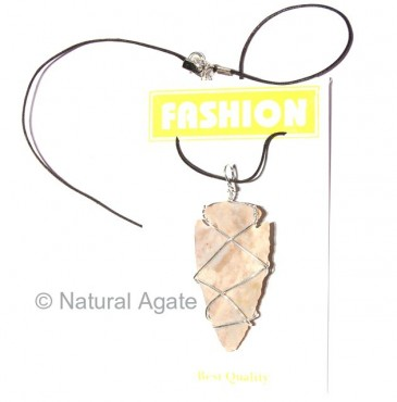 Indian Agate Arrowheads Wrap Necklace