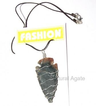 Agate Stone Wrap Neckalce