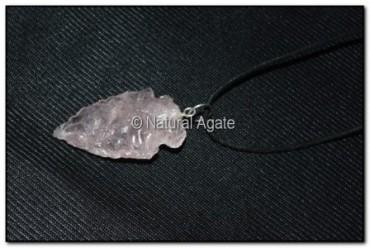 Rose Quartz Arrowheads Necklace