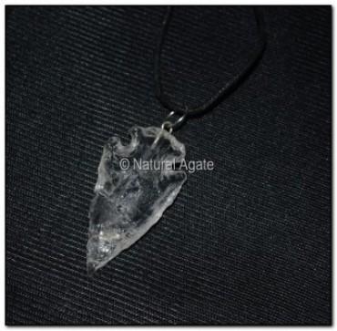 Crystal Quartz Arrowheads Necklace