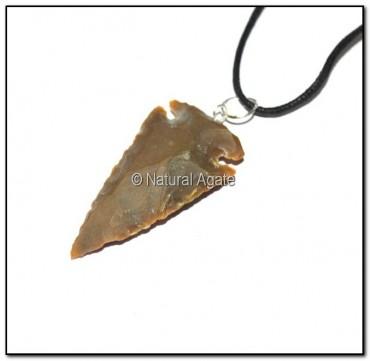 Brown Jasper Arrowheads Necklace