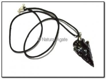 Obsidian Arrowheads Necklace
