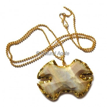 Agate Karvina Type  Arrowhead Necklace