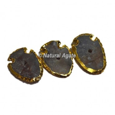 Plated Agate Fish Shape Natural Knob