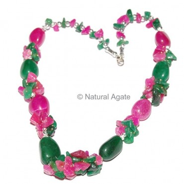 Dyed Ruby Necklace