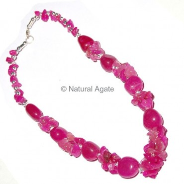 Pink Ruby Necklace