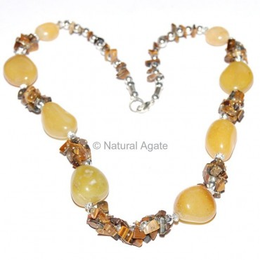 Yellow Onyx Agate Necklace