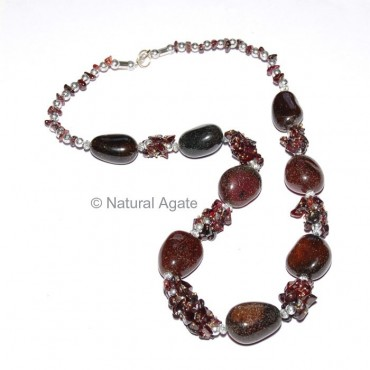 Brown Onyx Necklace
