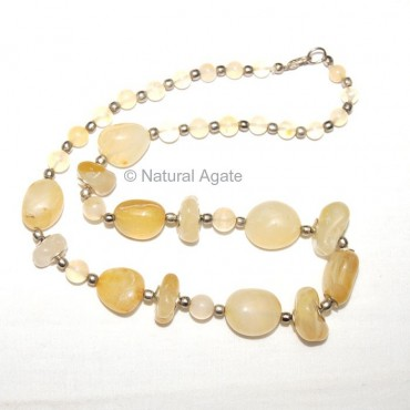 Yellow Onyx Necklace