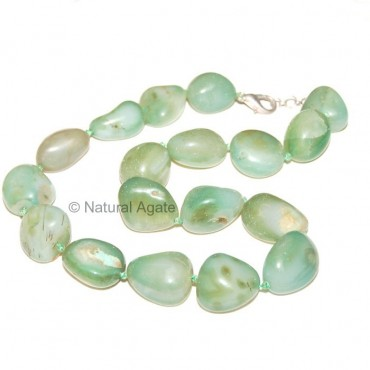 Green Onyx Tumbled Necklace