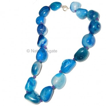 Blue Onyx Tumbled Necklace