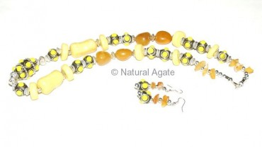 Yellow Multi Necklace