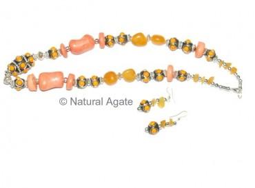 Yellow-Cream Necklace
