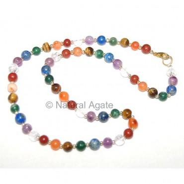 Chakra Brass Ball Necklace
