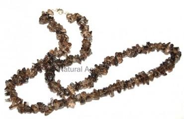Smoky Quartz Uncute Necklace