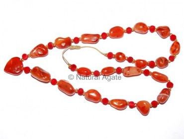 Red Carnellian Agate Necklace