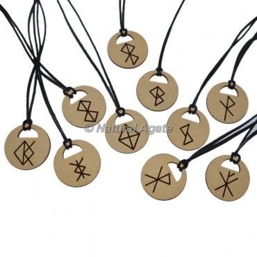 Zodiac Wooden  Symbol Pendant Set