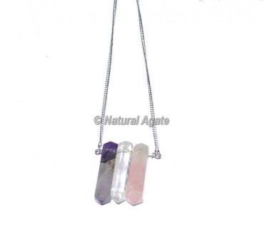 Crystal Quartz stone Necklace