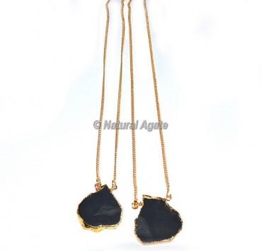 Black Onyx Slices Necklace