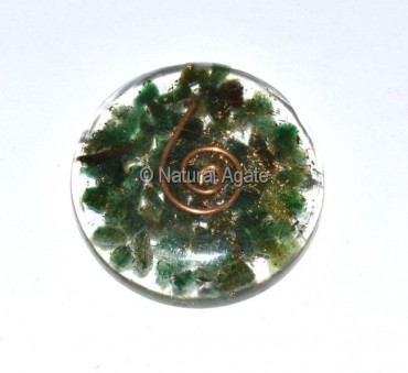 Green Jade Orgone Disc