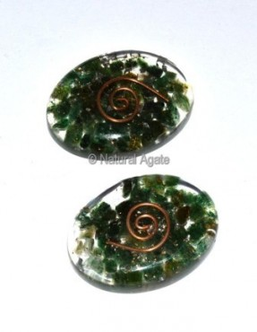 Green Jade Orgone Oval