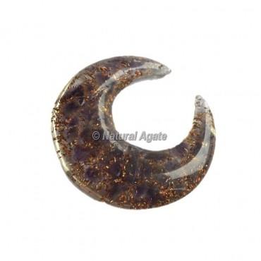 Amethyst Orgone Moon Shape Cab