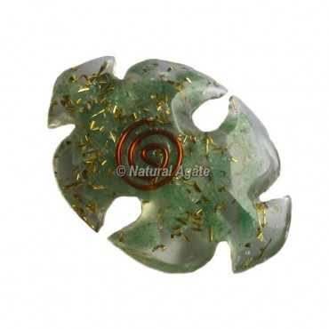 Green Aventurine Bird Shape Orgone Cab