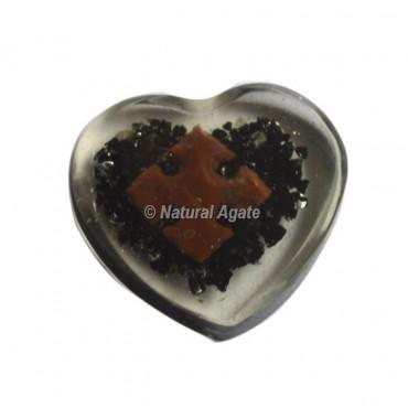 Flower Design On Orgone Heart