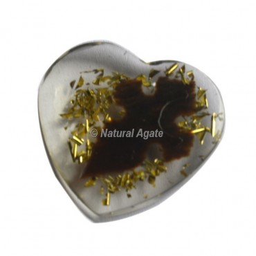 Arrowhead Design On Orgone Heart