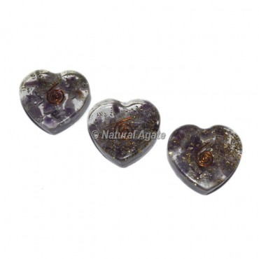 Amethyst Orgonite Heart Cab