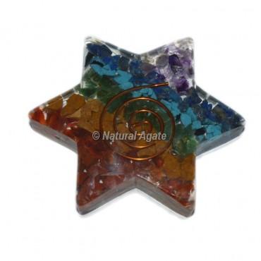 Seven Chakra Bonded Orgone Star