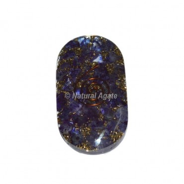 Crystal Blue Orgone Palm Stones Cab