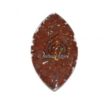 Red jasper Eye Orgone Cab