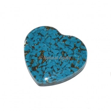 Turquoise Orgone Hearts Cab