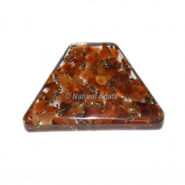 Red Carnelian Orgone Trapezoid Cab