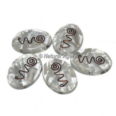 Selenite Orgone Oval Cabs