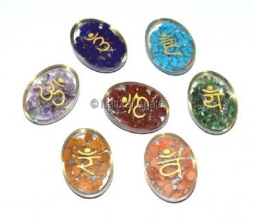 Orgone Chakra Sanskrit Oval Set