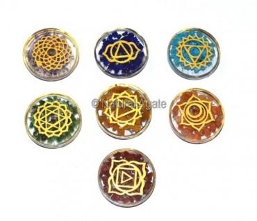 Orgone chakra Engraved Disc Set