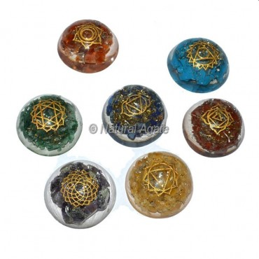 Orgone Dome With Seven Chakra Engraved Set