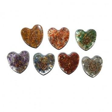 Seven Chakra Hearts Set