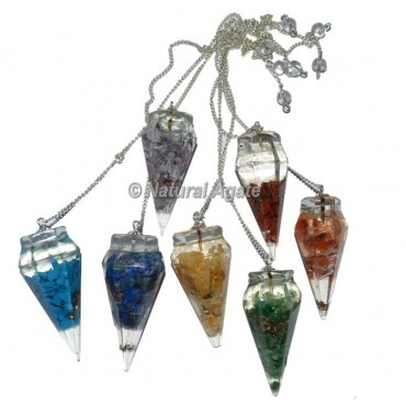 Orgone seven Chakra Pendulum Set