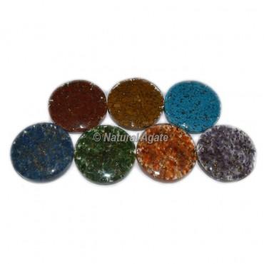 7 Chakra Orgone Disc Set