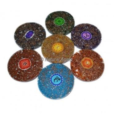 7 Chakra Orgone Sanskrit Coaster Set