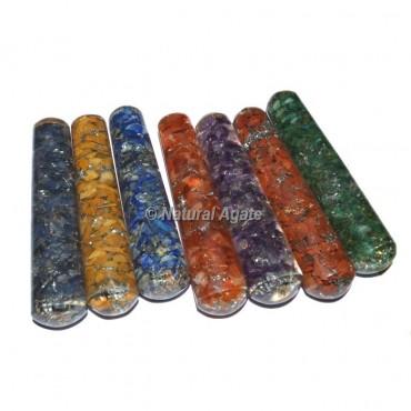 7 Chakra Orgone Massage Wand Set