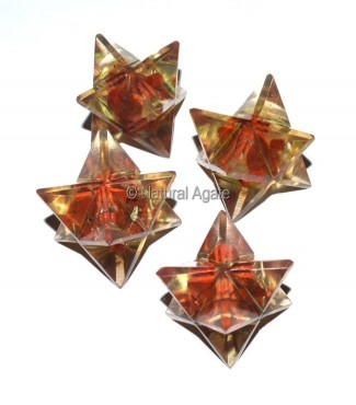 Orgone Red Jasper Merkaba Star