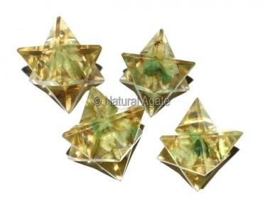 Orgone Green Aventurine Merkaba Star