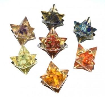 Orgone Multi Gemstone Merkaba star