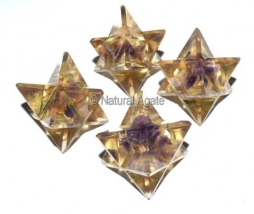 Orgone Amethyst Merkaba Star